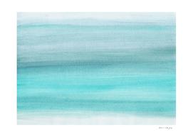 Aqua Blue Watercolor Dream #1 #painting #decor #art