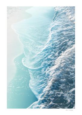 Soft Turquoise Ocean Dream Waves #1 #water #decor #art