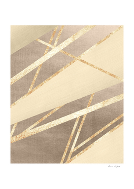 Golden Summer Geometric Stripe Glam #1 #geo #decor #art
