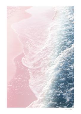 Blush Pink Blue Ocean Dream Waves #1 #water #decor #art