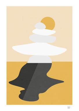 Abstract Cairn - Golden Desert