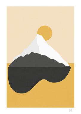 Abstract Mountain - Golden Desert
