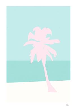 Minimal Palm Tree - Turquoise Coast