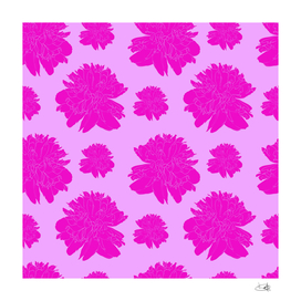 Graphic Print with Pink Peonies