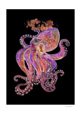 Purple Deep Sea Octopus