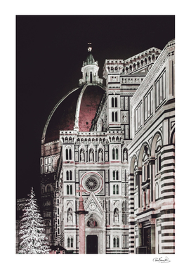 Santa Maria del Fiore  Cathedral at Night, Florence I
