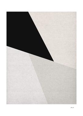 Mid Century Modern Geometry 3 black grey beige