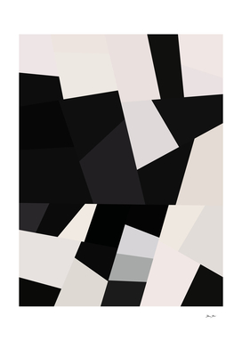 Mid Century Modern Geometry 1 black grey beige