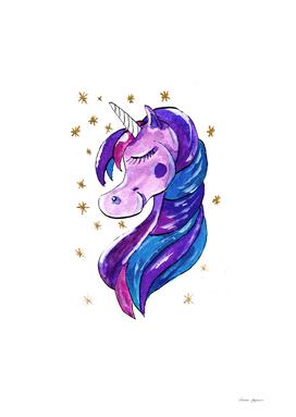 Sparkling Purple Unicorn