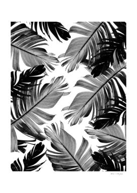 Tropical Banana Leaves Pattern #1 #tropical #decor #art