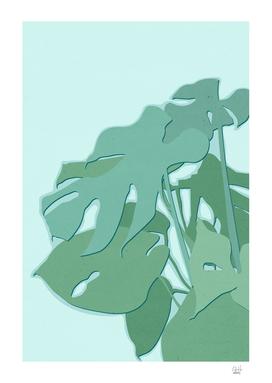 Minimal Monstera Leaves - Greener Eden