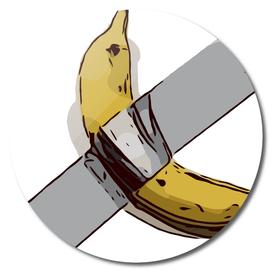 Duct-taped banana
