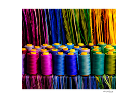 Spools of Colorful Thread