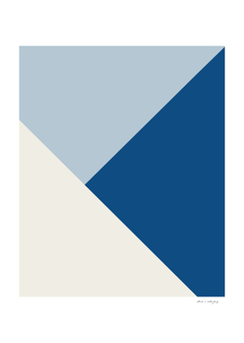 Baby Blue meets Classic Blue & Coconut Milk Geometric #1