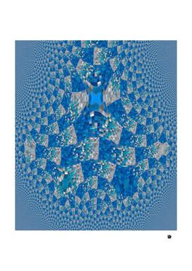 Fractal Trace Blue