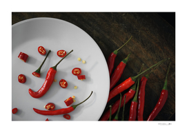 Red chili pepper in cooking