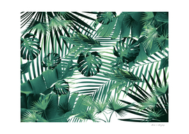 Tropical Jungle Leaves Siesta #5 #tropical #decor #art