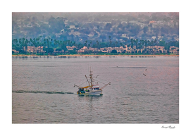 Shrimp Boat off California Coast
