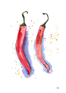 Watercolor pepper