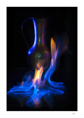 Vase on fire