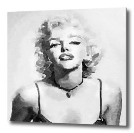 Marilyn Monroe watercolor painting