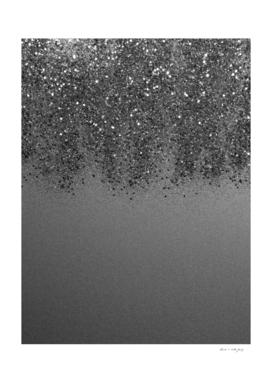 Sparkling Silver Gray Lady Glitter #2 (Faux Glitter) #shiny