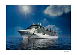 Celebrity Eclipse on Blue