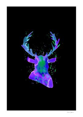 Purple Stag Silhouette Nebula