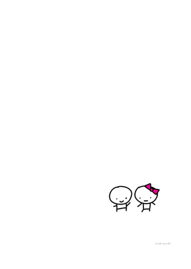 CUTE COUPLE - PINK BOW