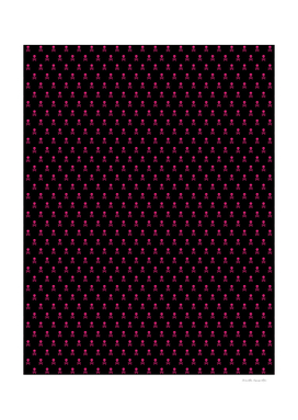 SKULLS PATTERN - BLACK & PINK - SMALL