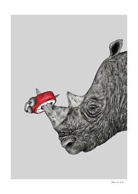 Tired Rhino