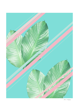 Tropical Summer Leaves Stripes - Cali Vibes #1 #tropical