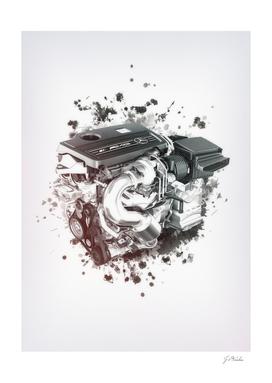AMG engine sketch