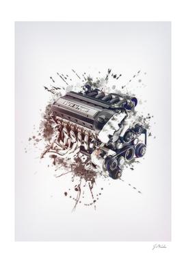 M Power engine sketch