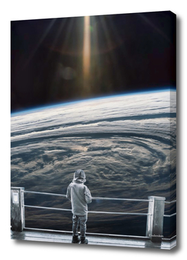 Looking back at earth ...