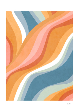 Abstract Rainbow Waves Pattern