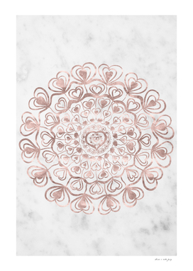 Heart Mandala on Marble #1 #decor #art