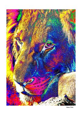 Lion Male Portrait thula-art