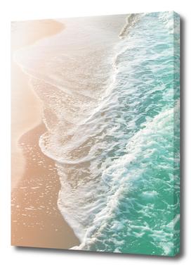 Soft Emerald Beige Ocean Dream Waves #1 #water #decor #art