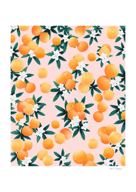 Orange Twist Flower Vibes #7 #tropical #fruit #decor #art