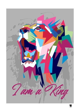 Lion King vector illustration