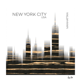 Urban Art NYC Skyline