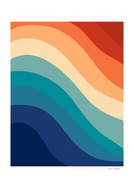 Retro Summer Wave #1 #minimal #decor #art