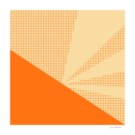 Geometric orange grid collage