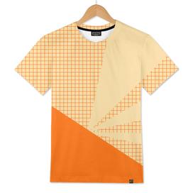 Geometric orange grid collage