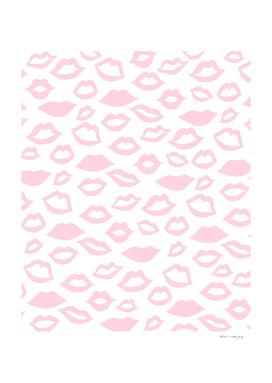 Blush Pink Lips Pattern Glam #1 #minimal #decor #art