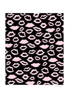 Blush Pink Lips Pattern Glam #2 #minimal #decor #art