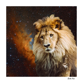 Lion and Galaxy
