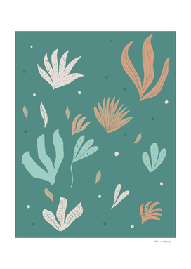 Underwater Leaves Jungle #2 #kids #decor #art