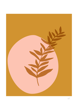 Abstract Botanical in Desert Blush and Terracotta